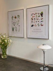 Poster Store - Køkken plakater - Love2Live - krydderurter - Kristina Sindberg - havens bær - naturplakater